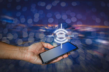 Pairing Smartphone with nearby gadgets through UWB radio technology