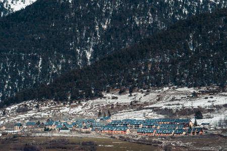Spanish Pyrenees. Val dAran or Aran Valley, view of Betlan village