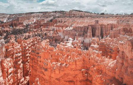 Natural amphitheater and pinnacle rock formation in Bryce Canyon National Park, Utah, USA