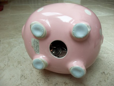 A piggy bank filled with coins