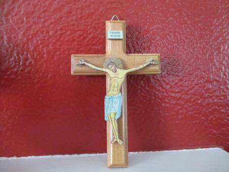 kruzifix: Ein Holzkreuz