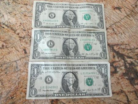 trio: A trio of 1 bills
