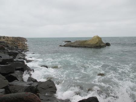 太平洋沿岸の大きな岩