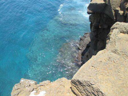 Top of a cliff overlooking the pacific ocean