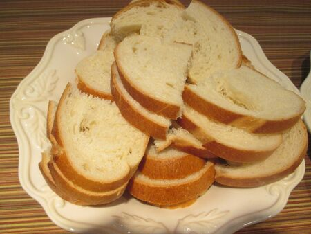large slices of bread on a white plate