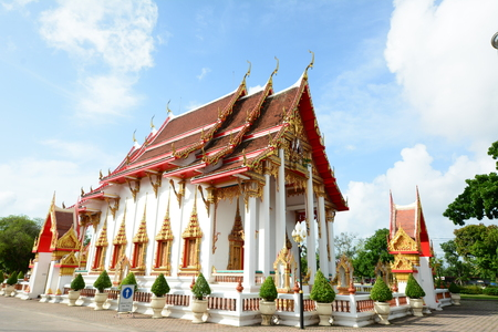 chalong: Wat Chalong temple in Phuket Thailand Stock Photo