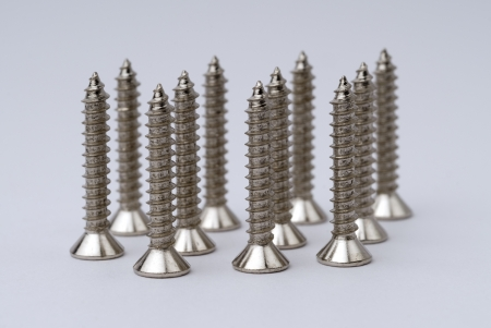 Various views of the screws, Screw with tower shape. Banco de Imagens - 16894329