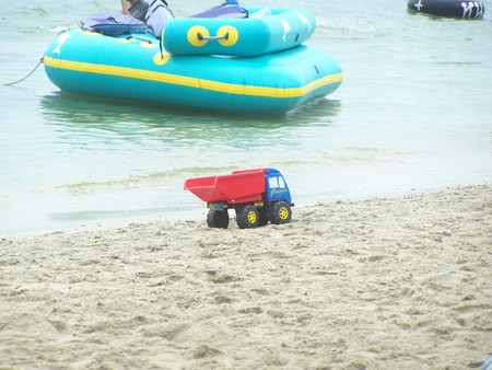 toy colour area seaside car  a beach is bangsan , tourist highly popular attraction is of Thailand