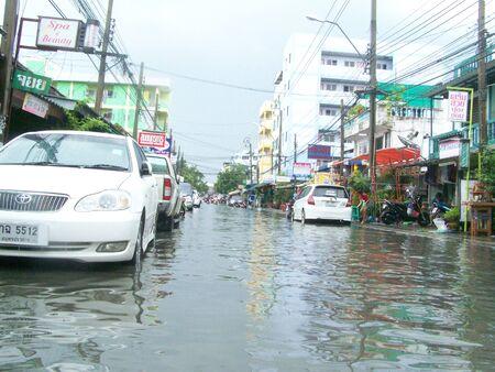 it rains heavy at noon make city flood