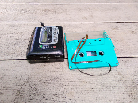 old cassette player rare to see in this era.