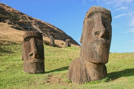 rano raraku: Moai at Rano Raraku quarry on Easter Island