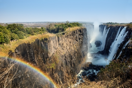 zambia: Victoria Falls and Victoria Falls Bridge