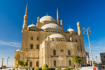 Great Mosque of Muhammad Ali at the citadel of Cairo, Egypt photo