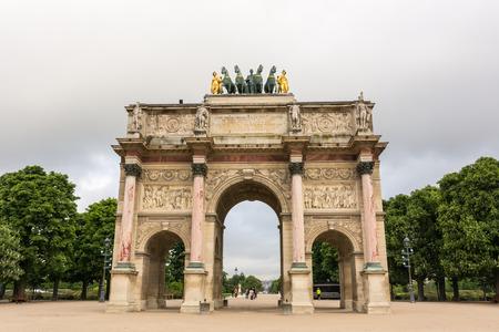 carrousel: Arc de Triomphe du Carrousel in Paris, France