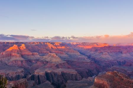 np: Grand Canyon NP in Arizona, USA during sunset Stock Photo