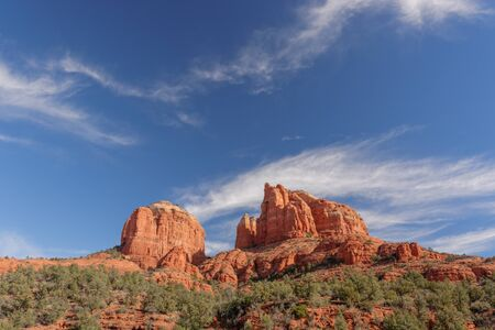 coconino national forest: Cathedral Rock in the Coconino National Forest near Sedona, AZ, USA