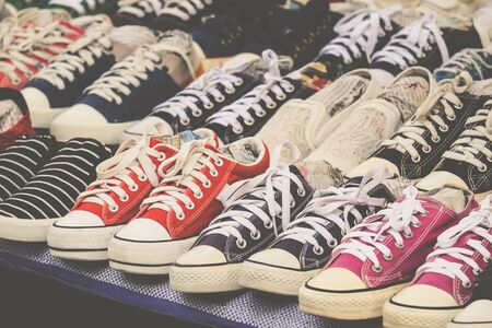 Simply sneaker with vintage filtered