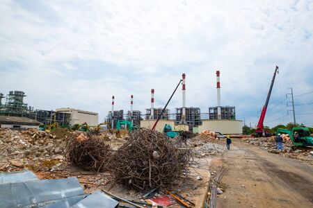 Demolition site or construction site of power plant
