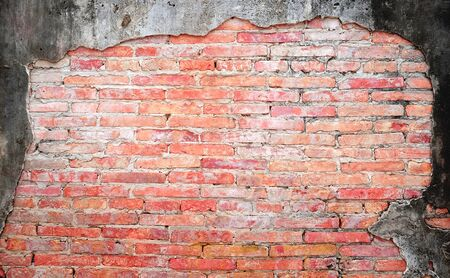Vintage red brick wall for background
