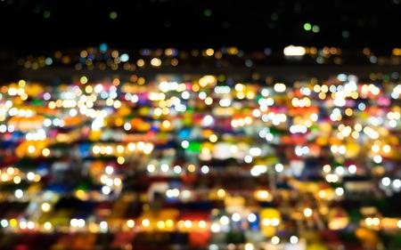 fleamarket: Blur bokeh background of multicolour Stock Photo