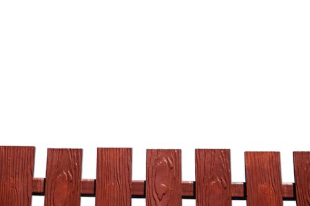 Wooden fences that isolated on a white background which can used for border and decorate. Banco de Imagens