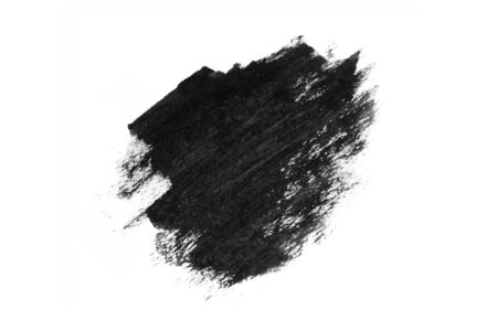 Abstract black ink texture Japan style on a white background. Water color splash. Hand brush ink on white paper.