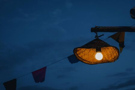 Close up of traditional lamp that brightens at midnight. Culture concept Imagens - 137789144