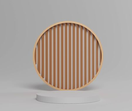 3d abstract minimal geometric forms. Glossy luxury podium with simple geometric forms for your design . Art decor elements. Sophisticated and Minimalist idea concept.