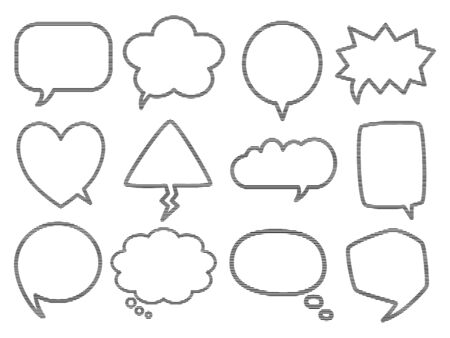 Blank empty speech bubbles for infographics isolated on white background. Stock fotó - 133554723