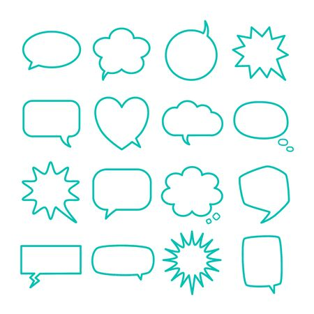 Blank empty speech bubbles for infographics isolated on white background. Stock fotó - 133554740