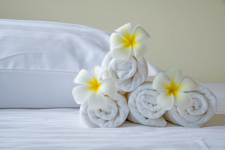 bed sheet: Relaxation living in hotel