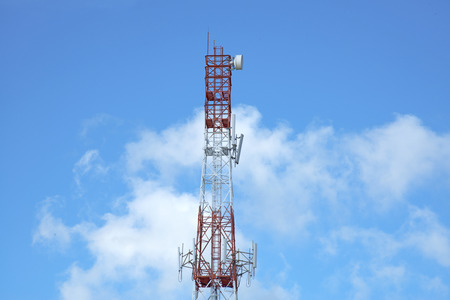 service providers: One of telecommunication antenna of Thai mobile phone service providers Stock Photo