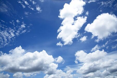 heavenly light: Bright blue sky on a sunny day in Thailand Stock Photo