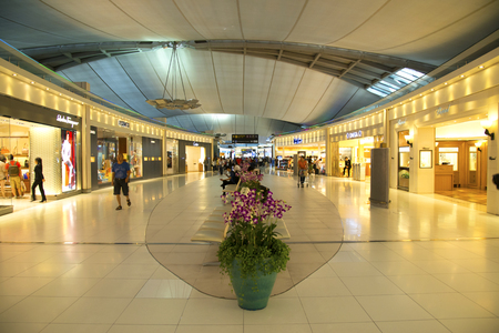 light duty: Duty free shops at Bangkok international airport