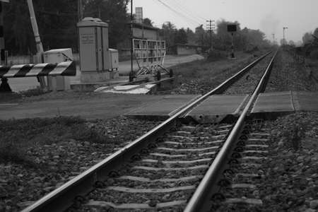 with no one: The railway in the day that no one cross it