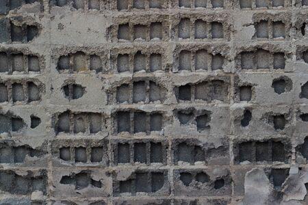 pared rota: Una vieja textura de la pared quebrada