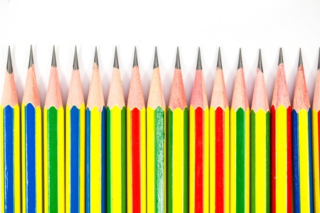 colorful of black pencils on white background   photo