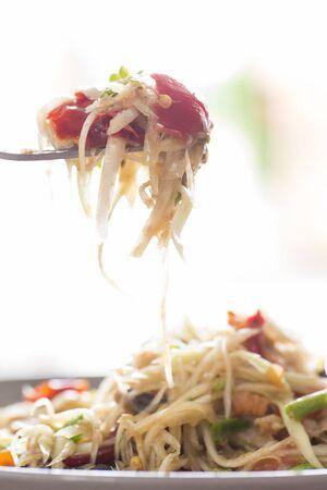 somtum: Papaya Salad, Somtum  was popular in Thailand