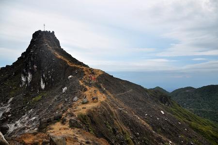 top of mountain in sibayak indonesia Standard-Bild