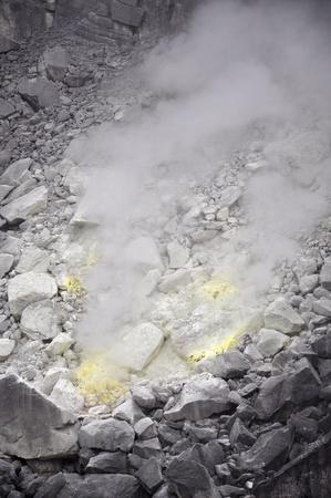 sulfur: hot sulfur area