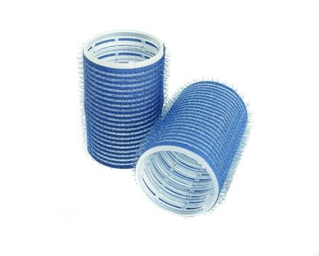 curler: blue hair curler