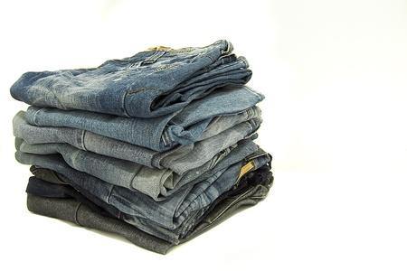 western wear: stack of jeans