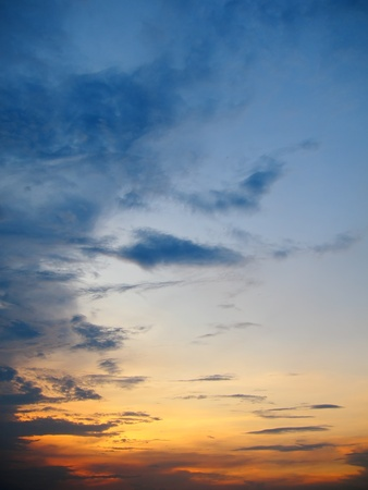 horizontals: red and blue sky Stock Photo