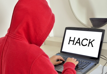 hacker man Stock Photo - 15474497