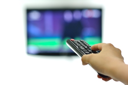 television remote control changes channel