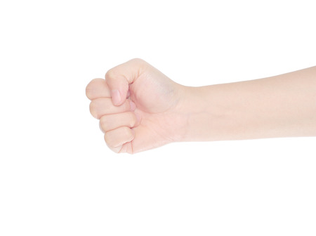 punch fist isolated on a white background Standard-Bild