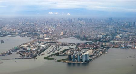 Aerial View of Jakarta City, Indonesia Standard-Bild