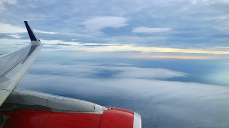 view from commercial airplane windows