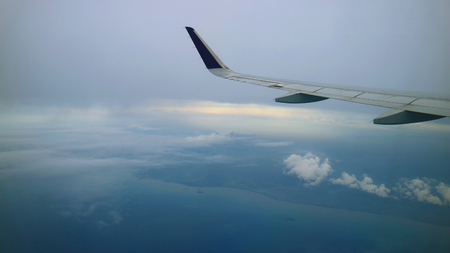 beautiful view from commercial airplane windows