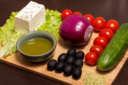 ingridients: Ingridients for Greek salad